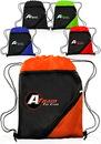 Custom 13W X 16H Drawstring Bags Zipper Pocket