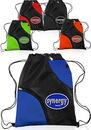 Custom 13W 16H Drawstring Bags Accent Pockets