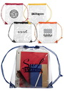 Custom 14W X 17H Drawstring Clear Plastic Backpacks