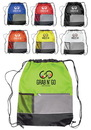 Blank Drawstring Backpacks With Front Pocket