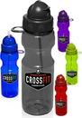 Custom 22 oz. Domed Flip Action Straw Plastic Bottles