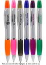 Blank 5.625W x 0.75H Plastic Highlighter Pens