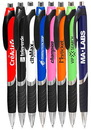 Custom Bright Colors Rubber Grip Ballpoint Pens
