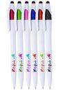 Blank Isla White Twist Barrel Stylus Pens