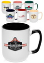 Custom 16 oz. Kelher Two Tone Coffee Mugs