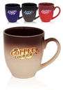 Custom 16 oz. Eclipse Gradient Ceramic Bistro Coffee Mugs