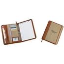 Custom KC1083 Cotton Canvas Zipper Padfolio