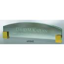 Custom NP004G The Alfa Jade Glass Awards, Glass name plate w/ gold corners 12