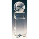 Custom S3801 The Alfa Crystal Collection, Crystal Globe Edifice 2 3/4