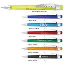 Custom SB270 Polymer, Modern Design Click Action Pen with Big Pocket Clip and Fashionable Frosted Barrel