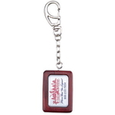 Custom WK05 Rosewood Rectangle Shape Key Tag w/ 1 Side Epoxy Coated Imprint