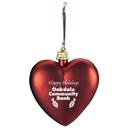 Custom Shatterproof Heart Ornament, 3 1/8