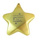 Custom Star Ornament with Decorative Cord, 3 1/2