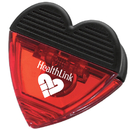 Custom Durable Rubber Grip and Powerful Magnet Heart Clip, 2 7/8