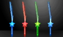 Custom Imprintable Assorted Fiber Optic Star Wands