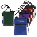 Custom Dual Compartment Neck Wallet/Badge Holder