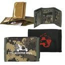 Custom 600D Polyester Tri-Fold Wallet, 5 X 3-1/2 (Closed), 10 X 5 (Opened)