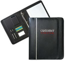 Custom Zippered Leatherette Binder Portfolio