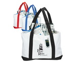 Custom 600D Polyester Two-Tone Boat Tote, 18