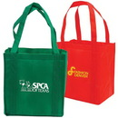 Custom Non-Woven Shopping Tote With Cardboard Bottom