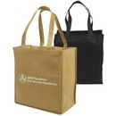 Custom Non-Woven Full Gusseted Shopping Tote, 15 X 16 X 8