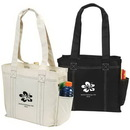Custom 600D Polyester Contrast Tote Bag