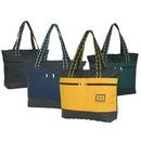 Custom 600D Polyester Zipper Tote Bag, 20 X 14-1/2 X 5-1/4