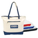Custom Zippered Canvas Tote, 18 X 14 X 5 (Bottom Gusset)