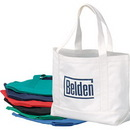 Custom Canvas Boat Tote, 19 X 12-1/2 X 4-1/2 (Bottom Gusset)