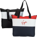 Custom 600D Polyester Zipper Tote Bag, 18 X 15-1/2 X 4
