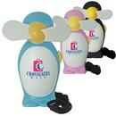 Custom Penguin Mini Fan, 1-1/2 X 3-7/8 X 2