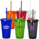 Custom 16 oz. Acrylic Double Wall Tumbler With Straw