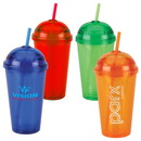Custom 16 oz. Acrylic Dome Lid Double Wall Tumbler With Straw