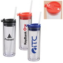 Custom 14 oz. Acrylic Double Wall Sip Top Tumbler With Straw