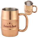 Custom 17 oz. Copper Color Plated Double-Wall Stainless Steel Moscow Mule Style Mug