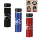 Custom 16 oz. Sleek Stainless Steel Vacuum Insulated Flask With Strainer