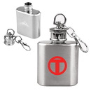 Custom 1 oz. Compact Stainless Steel Flask With Key Chain