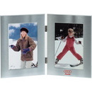 Custom Double Window Metal Frame Columbia Collection, For 2 X (5X7) Pictures