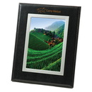 Custom Bonded Black Leather Frame, For 5 X 7 Pictures
