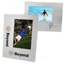 Custom Wide Border Brushed Silver Metal Frame For 4X6 Photo