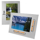 Custom Wide Border Brushed Silver Metal Frame For 5X7 Photo