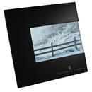 Custom Black Square Wide Border Horizontal Metal Frame For 4X6 Photo