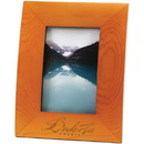 Custom Curved Wood Frame With Wide Borders, For 4 X 6 Pictures
