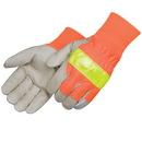 Custom 3M Scotchlite Safety Grain Pigskin Driver Gloves