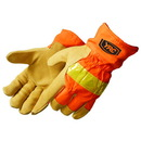 Custom Safety Orange Grain Pigskin Thermo Lined Driver/Work Gloves