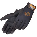 Custom Premium Black Grain Goatskin Mechanic Gloves
