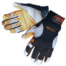 Custom Premium Grain Goatskin Mechanic Gloves With Leather Palm