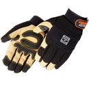 Custom Tan Grain Pigskin Reinforced Palm Mechanic Gloves