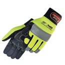 Custom Premium Hi-Vis Simulated Leather Reinforced Palm Mechanic Gloves