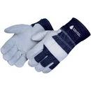 Custom Split Cowhide Work Gloves W/ Denim Cuff
